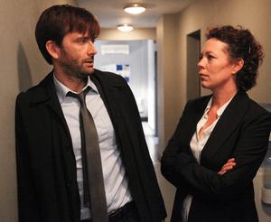 David Tennant (Alec Hardy) et Olivia Colman (Ellie Miller)
